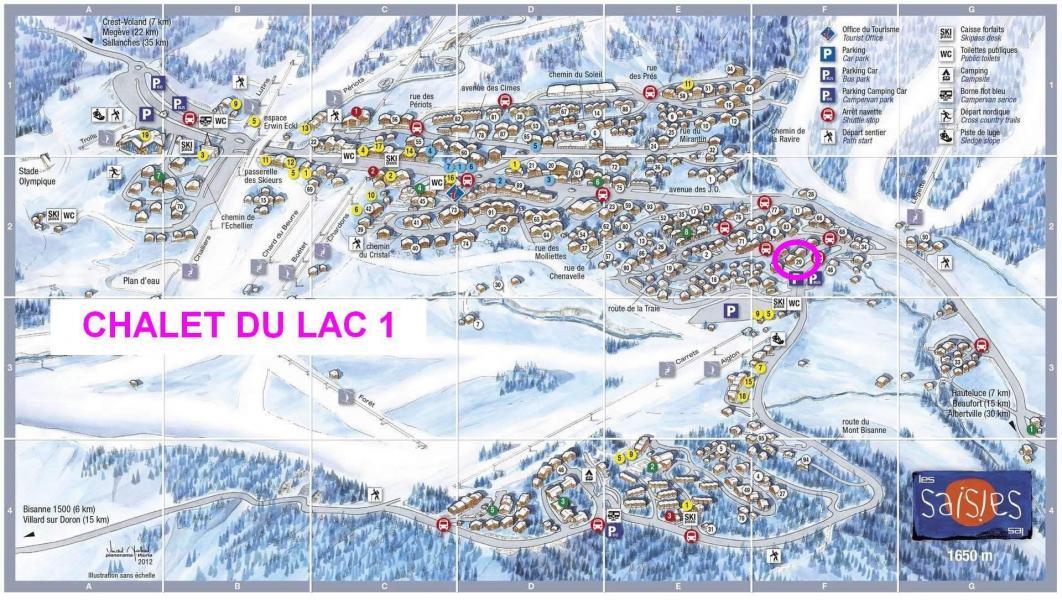 Vacaciones en montaña Chalet du Lac 1 - Les Saisies - Plano