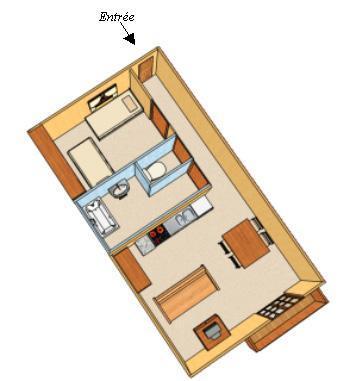 Vacances en montagne Appartement 2 pièces 4 personnes - Chalet Estelann - Champagny-en-Vanoise - Plan