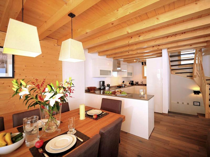 Holiday in mountain resort Chalet Falcons Nest - Thyon - Open-plan kitchen