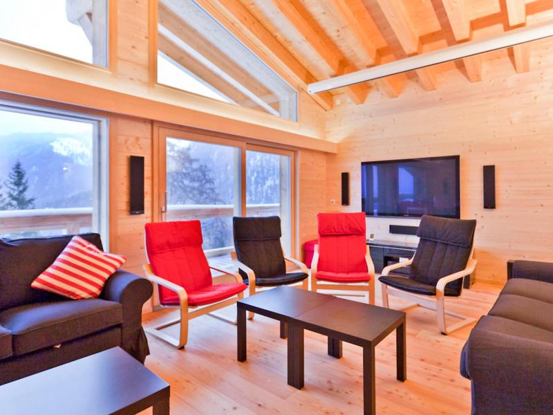 Holiday in mountain resort Chalet Flocon de Neige - La Tzoumaz - Flat screen TV