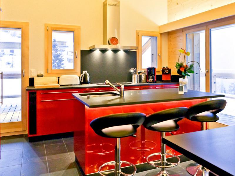 Urlaub in den Bergen Chalet Flocon de Neige - La Tzoumaz - Küche