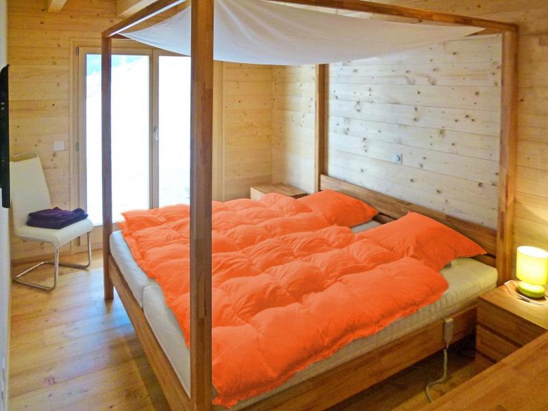 Urlaub in den Bergen Chalet Flocon de Neige - La Tzoumaz - Schlafzimmer