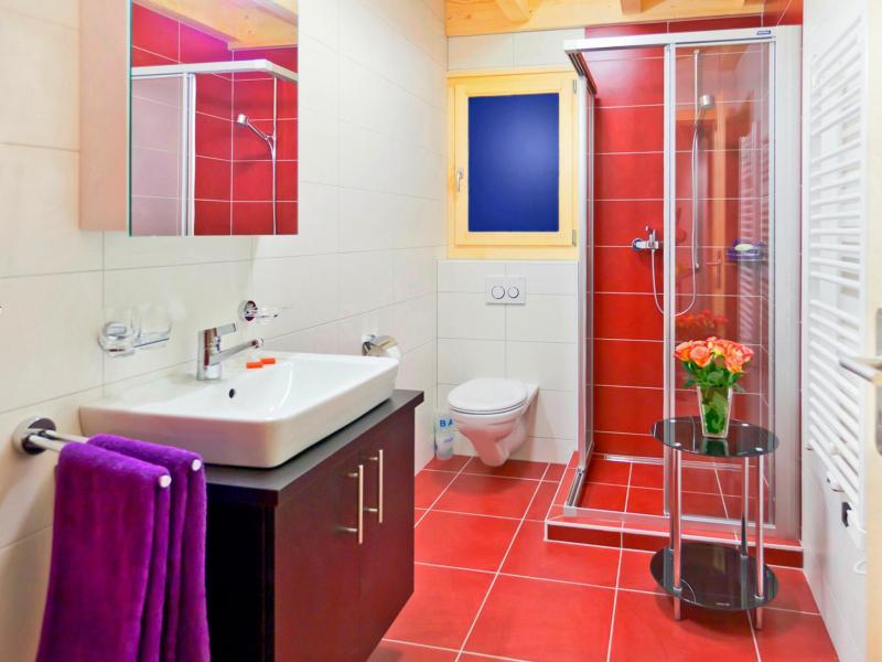 Holiday in mountain resort Chalet Flocon de Neige - La Tzoumaz - Shower room