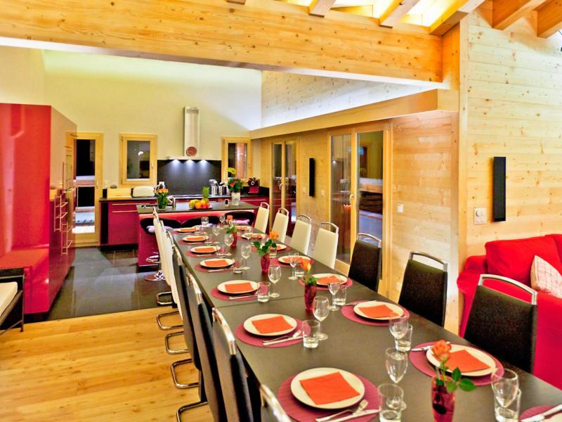 Urlaub in den Bergen Chalet Flocon de Neige - La Tzoumaz - Tisch