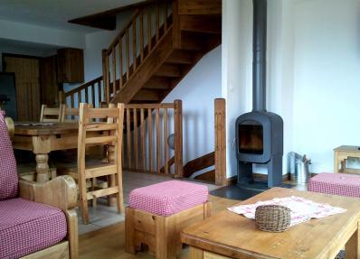 Vacaciones en montaña Chalet Geffriand - Les Menuires - Salón