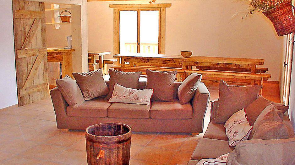 Vacances en montagne Chalet Gran Koute - Les Menuires - Canapé