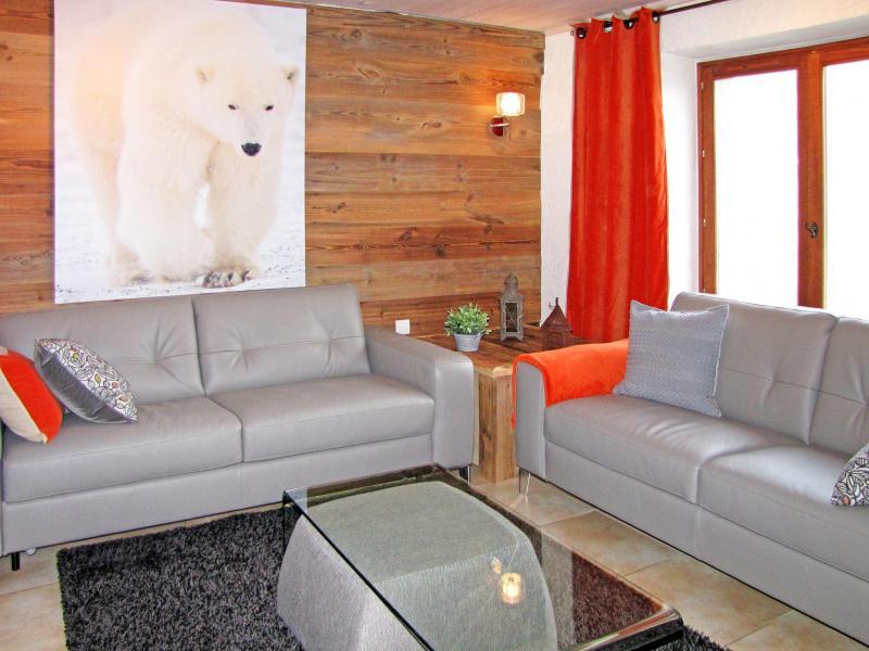 Holiday in mountain resort Chalet Grand Massif - Morillon - Living room