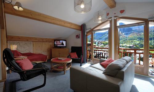 Vacances en montagne Appartement duplex 3 pièces 5 personnes - Chalet Iris - Saint Martin de Belleville - Canapé