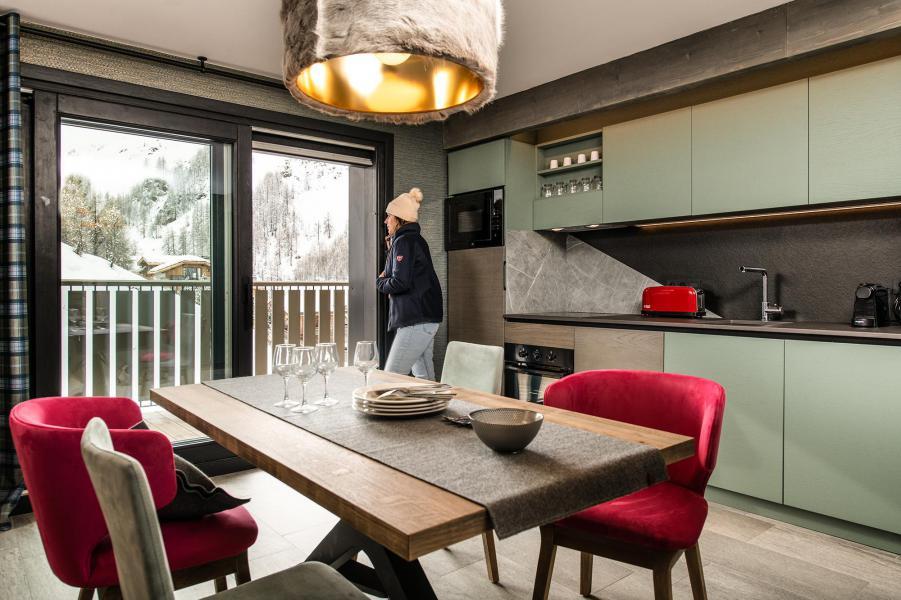 Vakantie in de bergen Appartement 3 kamers 4 personen - Chalet Izia - Val d'Isère - Woonkamer