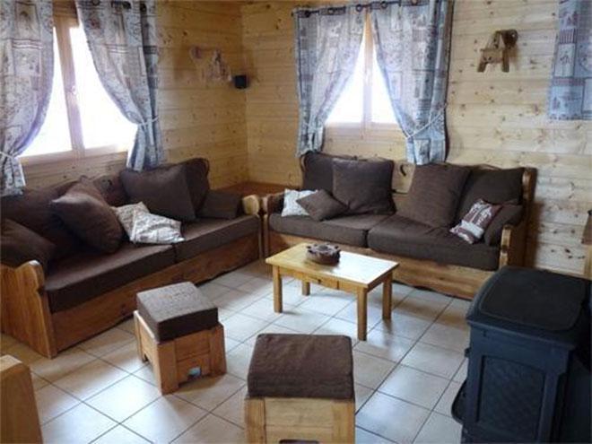 Vacanze in montagna Chalet Jardin d'Hiver - La Toussuire - Soggiorno