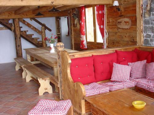 Vacances en montagne Appartement 12 personnes - Chalet l'Edelweiss - Champagny-en-Vanoise - Coin séjour