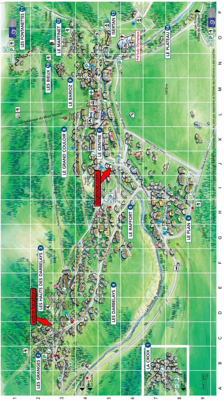 Vacaciones en montaña Chalet la B'Zeille - Pralognan-la-Vanoise - Plano