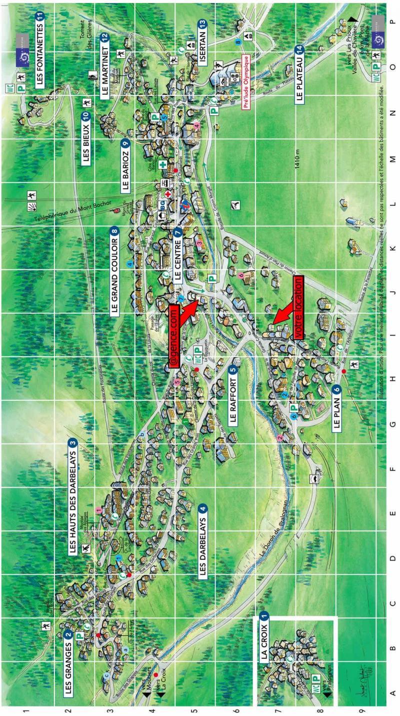 Vacaciones en montaña Chalet la Bourna de l'Ors - Pralognan-la-Vanoise - Plano
