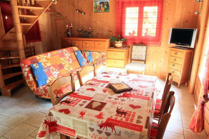 Wakacje w górach Domek górski duplex 2 pokojowy dla 5 osób - Chalet la Fouine - Châtel - Pokój gościnny