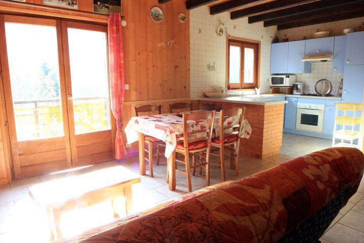 Wakacje w górach Domek górski duplex 2 pokojowy dla 5 osób - Chalet la Fouine - Châtel - Stołem