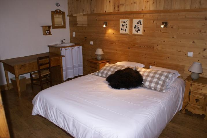 Holiday in mountain resort 5 room duplex chalet 8-10 people - Chalet la Sauvire - Champagny-en-Vanoise - Double bed