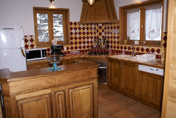Vakantie in de bergen Chalet duplex 5 kamers 8-10 personen - Chalet la Sauvire - Champagny-en-Vanoise - Open keuken