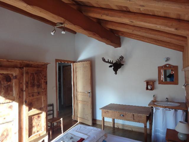 Vacances en montagne Chalet duplex 5 pièces 8-10 personnes - Chalet la Sauvire - Champagny-en-Vanoise - Chambre mansardée