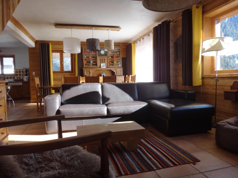 Holiday in mountain resort Chalet la Sauvire - Champagny-en-Vanoise - Living area