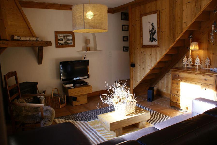 Vakantie in de bergen Chalet la Sauvire - Champagny-en-Vanoise - Woonkamer