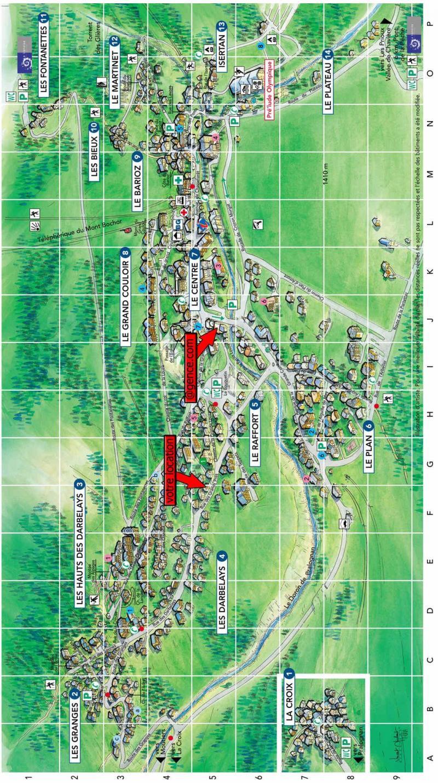 Vacaciones en montaña Chalet la T'Santela - Pralognan-la-Vanoise - Plano