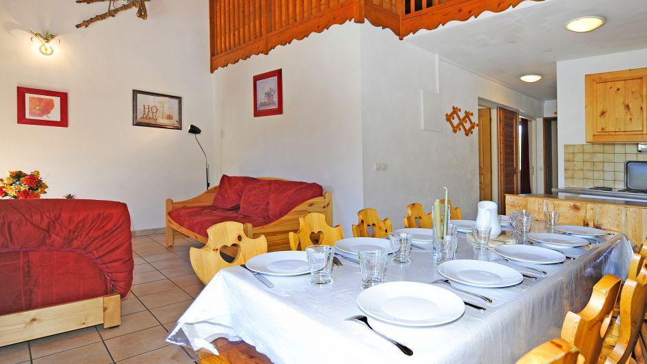 Vacances en montagne Appartement duplex 4 pièces 10 personnes (4) - Chalet le Cristal - Les Menuires - Séjour