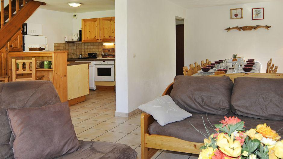 Vacances en montagne Appartement duplex 6 pièces 13 personnes (1) - Chalet le Cristal - Les Menuires - Séjour