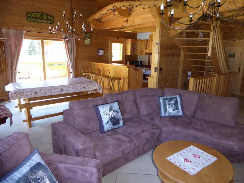 Wakacje w górach Apartament 6 pokojowy z antresolą 10 osób - Chalet le Flocon - Pralognan-la-Vanoise - Pokój gościnny