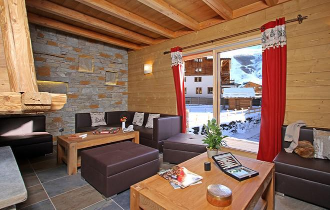 Holiday in mountain resort Chalet Le Loup Lodge - Les 2 Alpes - Living room