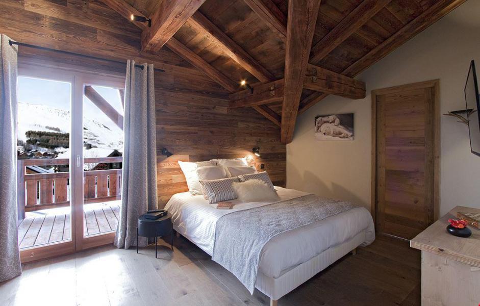 Vacaciones en montaña Chalet le Lys - Les 2 Alpes - Habitación abuhardillada
