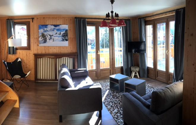 Holiday in mountain resort Chalet le Marmotton - Les 2 Alpes - Settee