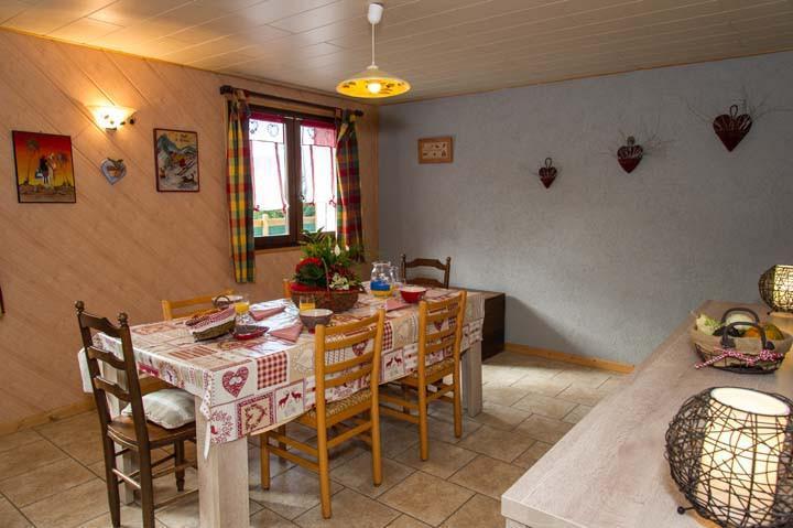 Vacaciones en montaña Apartamento 3 piezas para 6 personas - Chalet le Marmouset - Châtel - Mesa