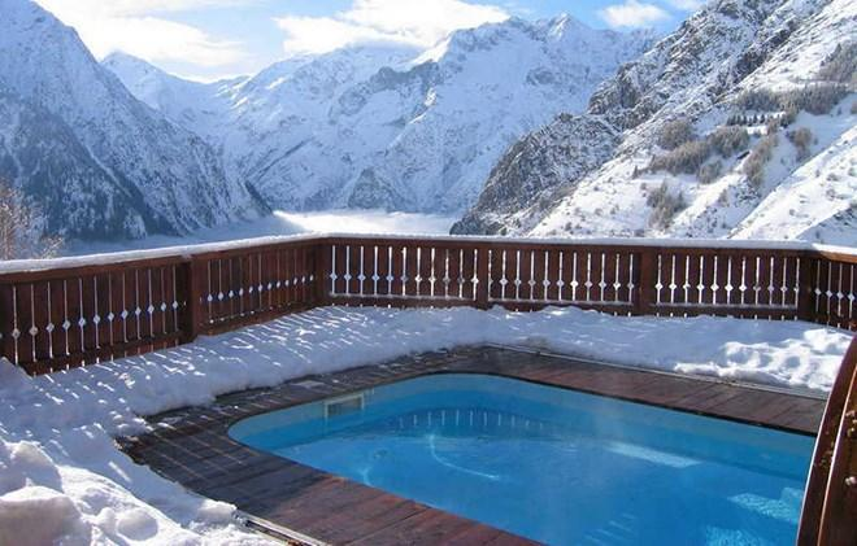 Vacances en montagne Chalet le Ponton - Les 2 Alpes - Piscine