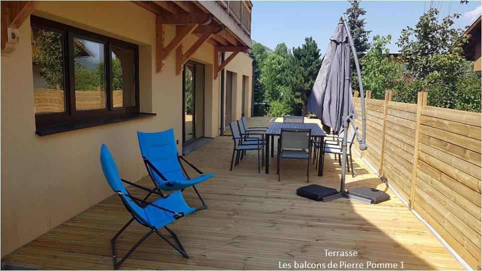 Wakacje w górach Apartament 5 pokojowy 8 osób (RDC) - Chalet les Balcons de Pierre Pomme - Valloire - Taras
