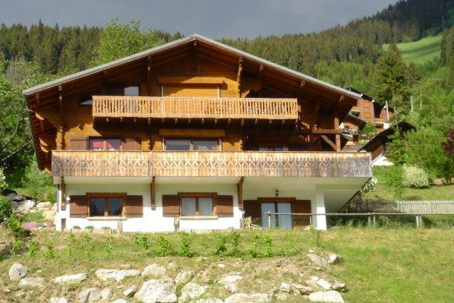 Wakacje w górach Apartament 3 pokojowy 6 osób - Chalet les Barbules - Châtel - Na zewnątrz latem