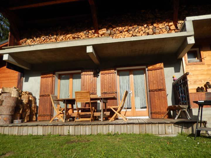 Rent in ski resort 2 room apartment 4 people - Chalet les Géraniums - Châtel - Summer outside
