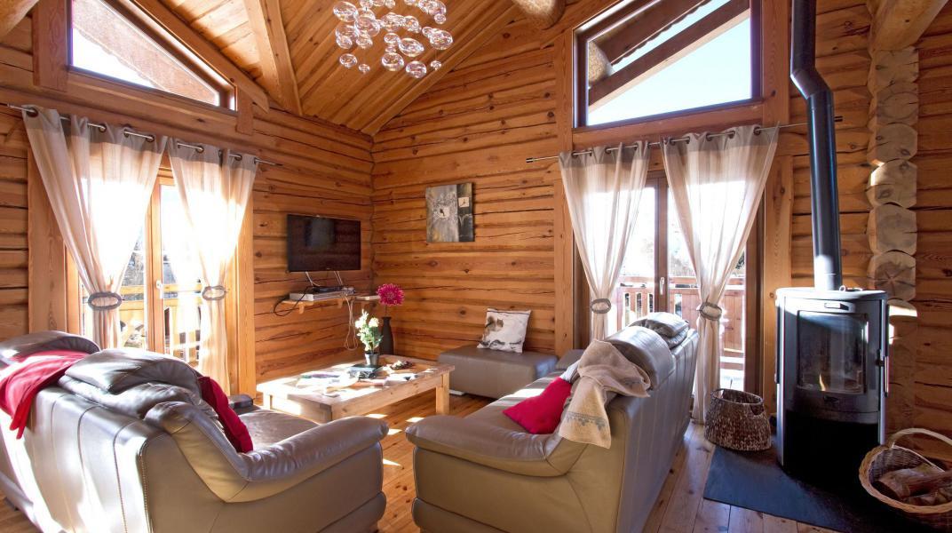 Wakacje w górach Chalet Leslie Alpen - Les 2 Alpes - Piecem na drewno