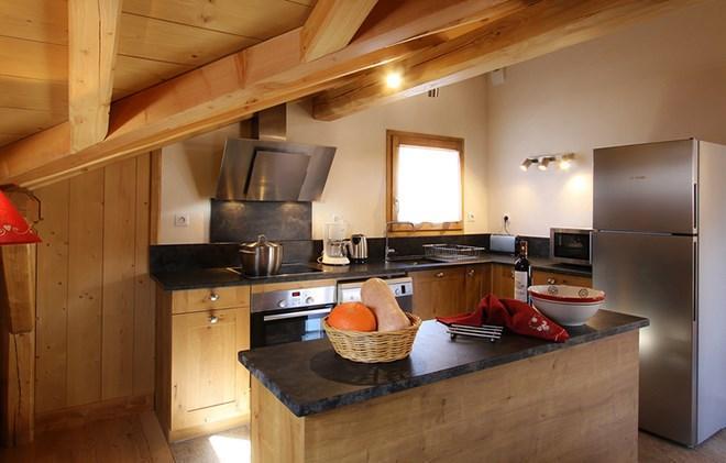 Vacances en montagne Chalet Levanna Occidentale - Les 2 Alpes - Cuisine ouverte