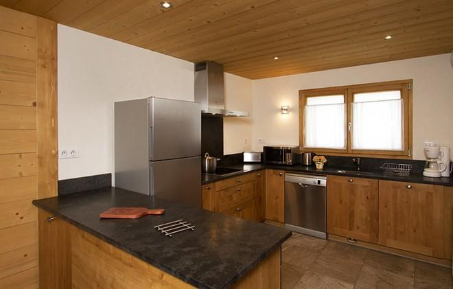 Holiday in mountain resort Chalet Levanna Orientale - Les 2 Alpes - Open-plan kitchen
