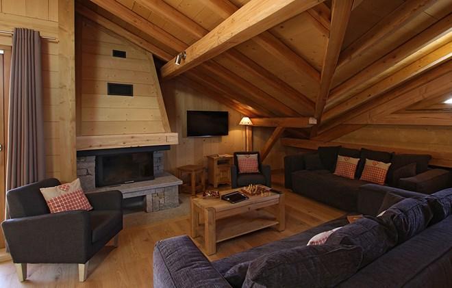 Urlaub in den Bergen Chalet Levanna Orientale - Les 2 Alpes - Wohnzimmer
