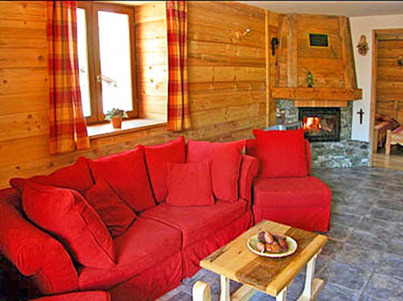 Vacances en montagne Chalet Levassaix - Les Menuires - Canapé