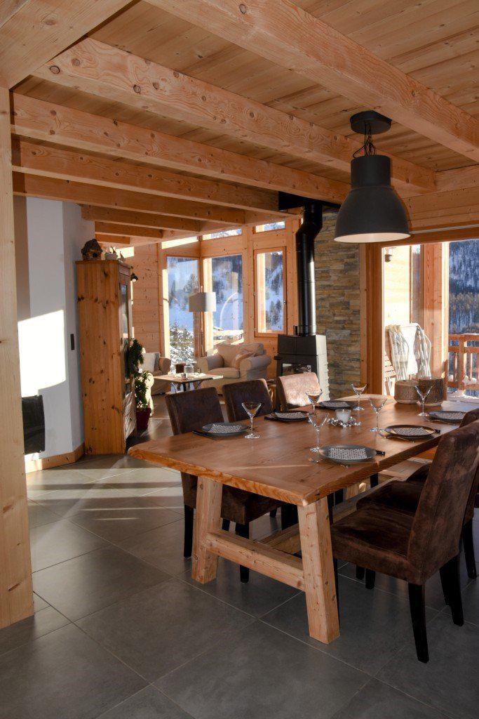 Vacances en montagne Chalet duplex 5 pièces 10 personnes - Chalet Loan - Montgenèvre - Table