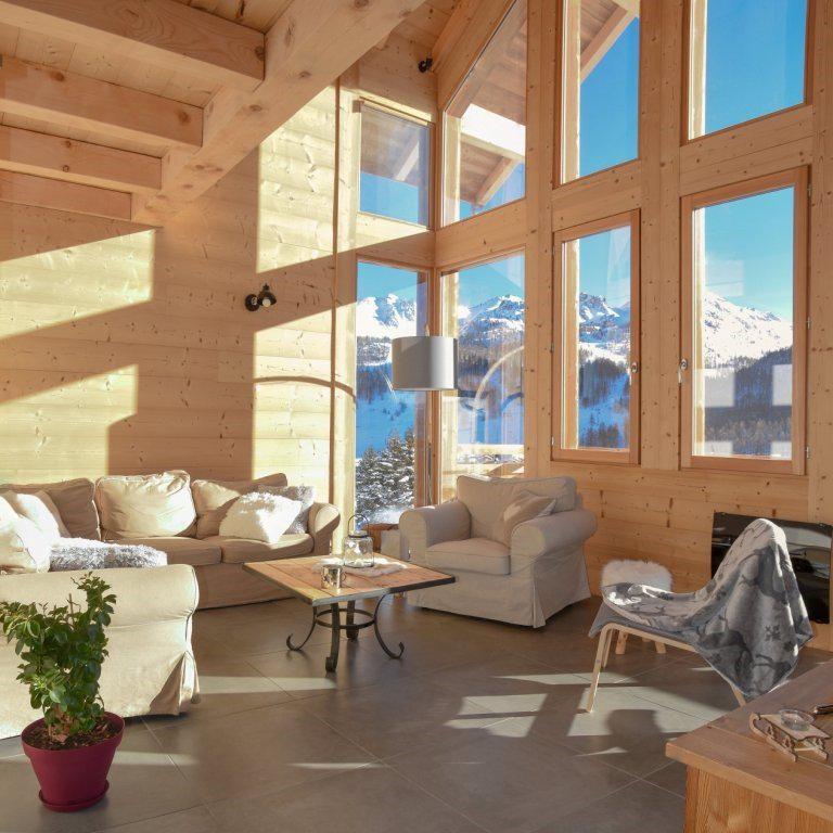 Vacaciones en montaña Chalet duplex 5 piezas para 10 personas - Chalet Loan - Montgenèvre - Sofá