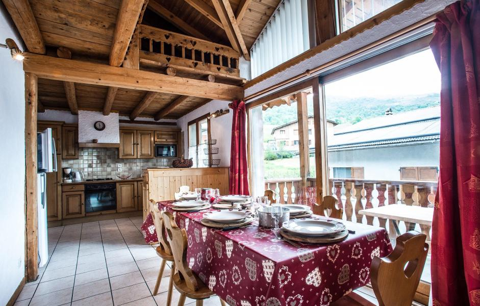 Vacaciones en montaña Chalet Loutantin - Saint Martin de Belleville - Comedor