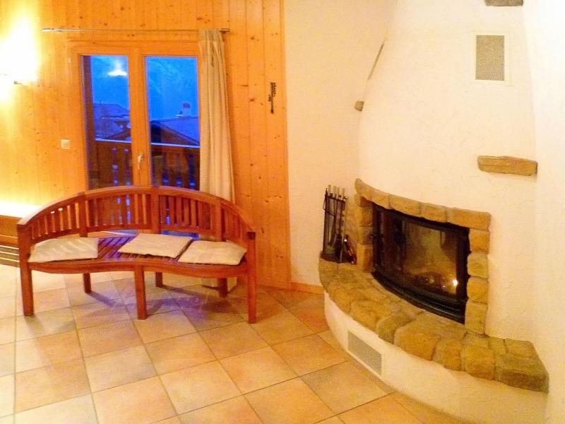 Vacances en montagne Chalet Maria - La Tzoumaz - Cheminée