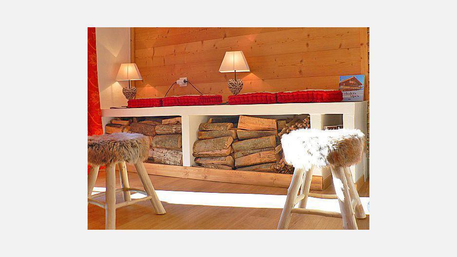 Vacances en montagne Chalet triplex 4 pièces 6 personnes - Chalet Marmottes - Saint Martin de Belleville - Séjour