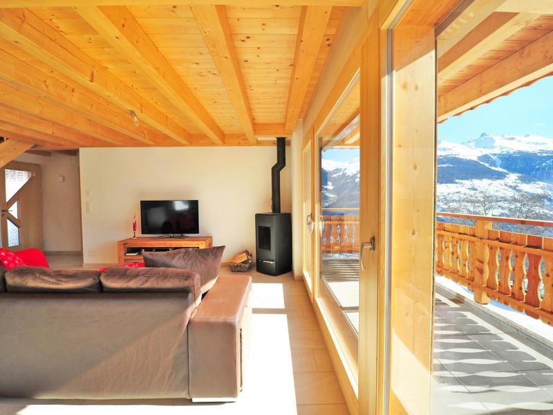 Vacances en montagne Chalet Ourson Blanc - Thyon - Tv à écran plat