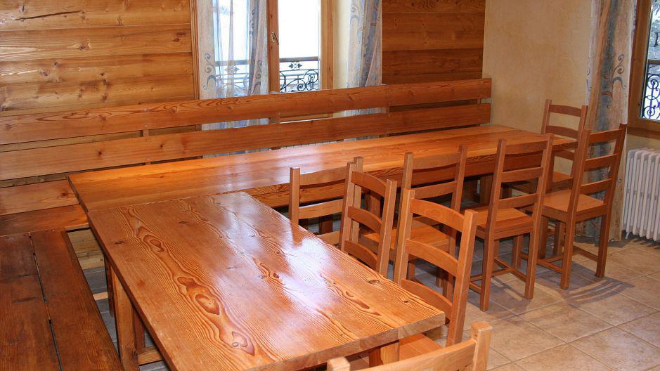 Urlaub in den Bergen Chalet Oursons - Saint Martin de Belleville - Esszimmer