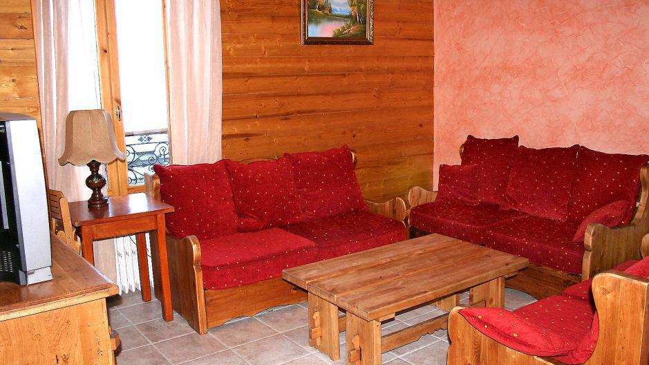 Vakantie in de bergen Chalet Oursons - Saint Martin de Belleville - Woonkamer