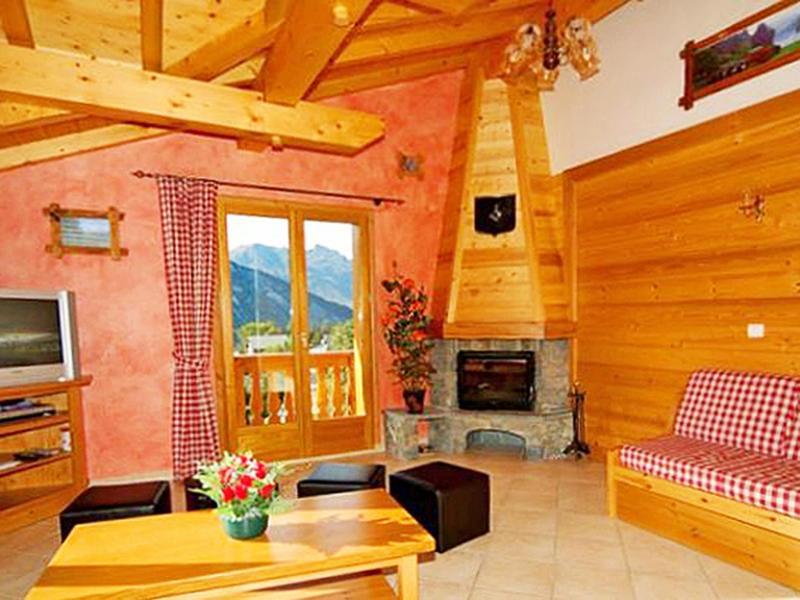 Holiday in mountain resort Chalet Paradis de St Martin - Saint Martin de Belleville - Fireplace